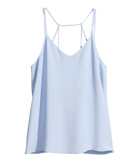 Light Blue Top by Light Blue Camisole Top With V Neck And Narrow Shoulder
