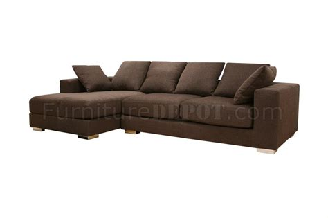 twill sectional brown twill fabric modern sectional sofa florence