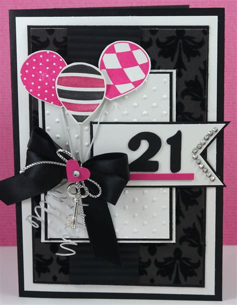 Handmade 21 Birthday Card - 21st birthday card stlicious