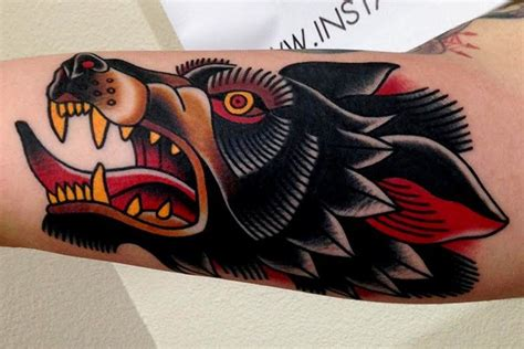 traditional wolf head tattoo 20 traditional wolf ideas designs and images