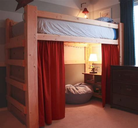 queen size loft bed ikea ikea queen size loft bed with red curtain i dunt think