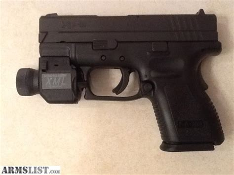 armslist for sale springfield xd 9mm sub compact with light