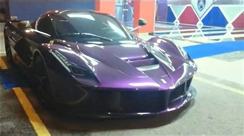 1 Of 1 Purple Ferrari Laferrari In Malaysia Gtspirit