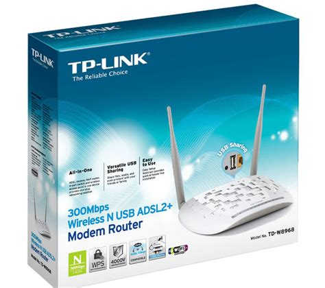Adaptor Router Original Modem Tp Link tp link td w8968 wireless modem router deals pc world
