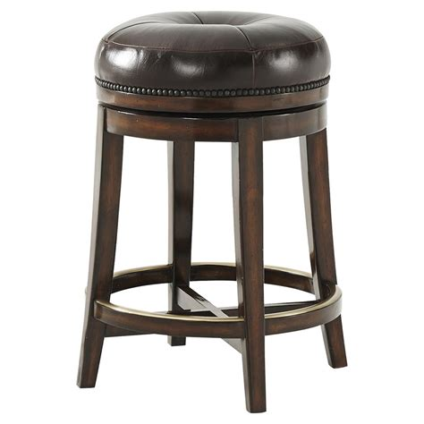 Theodore Bar Stools by Theodore The Barolo Vintage Nailhead Leather