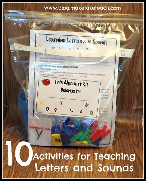 Activities To Teach Letter Sounds