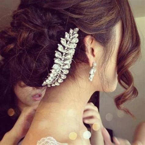 prom hairstyles with hewels jewels hair bun wedding hair accessory wedding