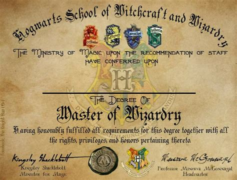 harry potter certificate template hogwarts graduation diploma template harry potter