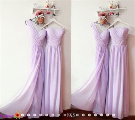 lilac bridesmaid dress long chiffon prom dress simple prom