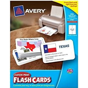 Cus Store Gift Card - avery cus tom print flash cards 3 x 5 inches 04780 amazon in electronics