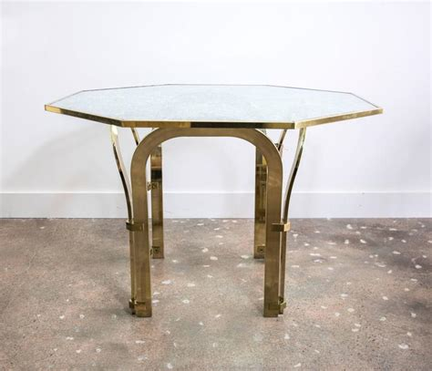 Octagonal Brass Dining Table With Custom Glass In The Custom Glass Dining Table