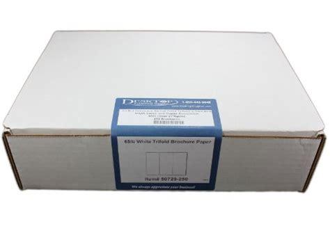 Tri Fold Brochure Paper - 65lb bright white tri fold brochure paper 250 trifold