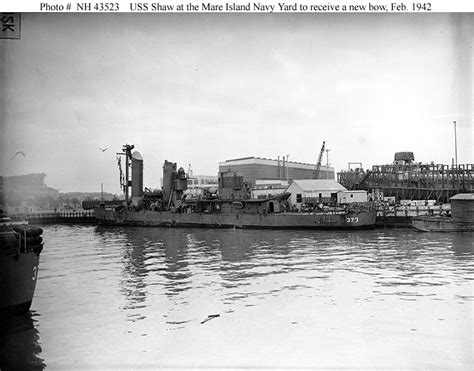 Mr8st H M 43000 usn ships uss shaw temporary repair of pearl harbor attack damage january february 1942