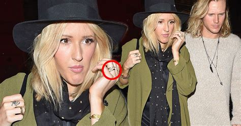 ellie goulding engaged ellie goulding and dougie poynter fuel more engagement