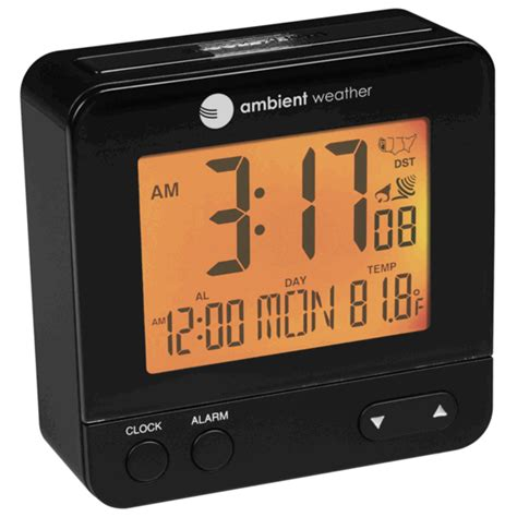 ambient weather rc 8300 atomic travel compact alarm clock with auto light feature