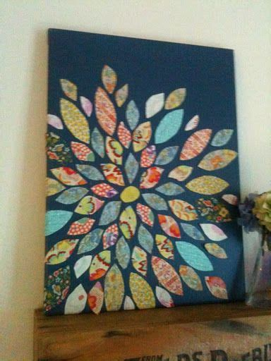 Dekoration Selber Machen 2692 by Canvas Spray Painted And Scrapbook Paper Diy