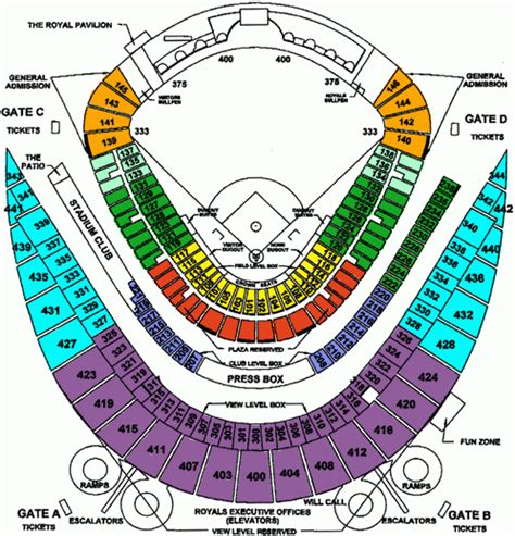 kc royals interactive seating chart brokeasshomecom