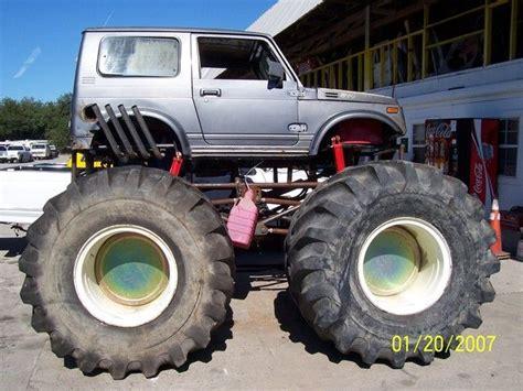suzuki monster truck suzuki samurai monster truck lets take a dirt road