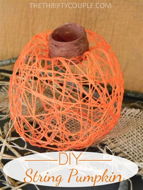 How To Make String - how to make diy string pumpkin decor