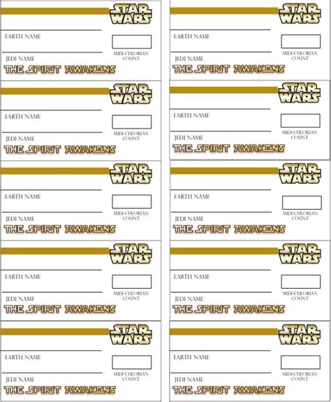 printable star wars name tags throw a star wars party beehive deacon day