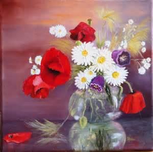 tableau peinture fleur pavot coquelicot nature fleurs