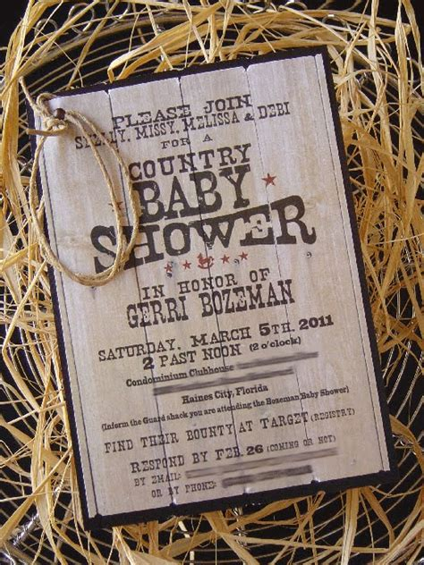 Country Themed Baby Shower by Country Theme Baby Shower Revealed Brave Creative Design