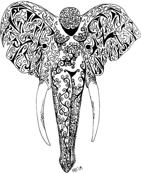 gray tattoo designs grey ink elephant design