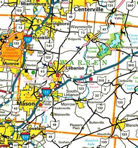 Warren County Search Warren County Ohio Map Ohiobiz