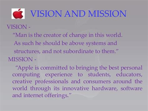 apple vision mission statement 28 mission statement objectives vision