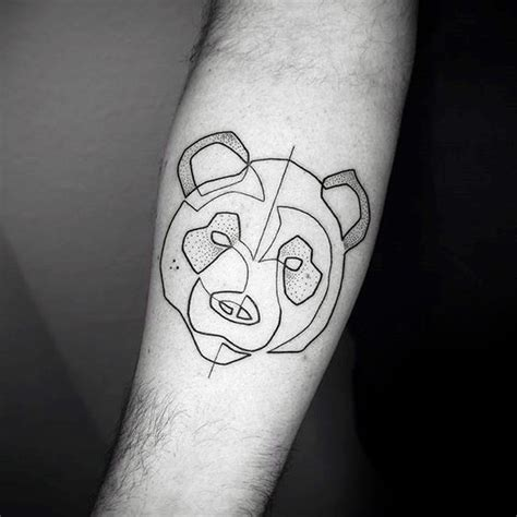 panda tattoo lines 100 panda bear tattoo designs for men manly ink ideas