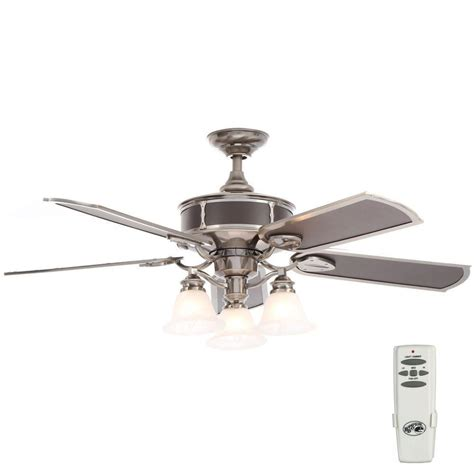 home depot fans with remote control hton bay preston 52 in indoor vintage pewter ceiling
