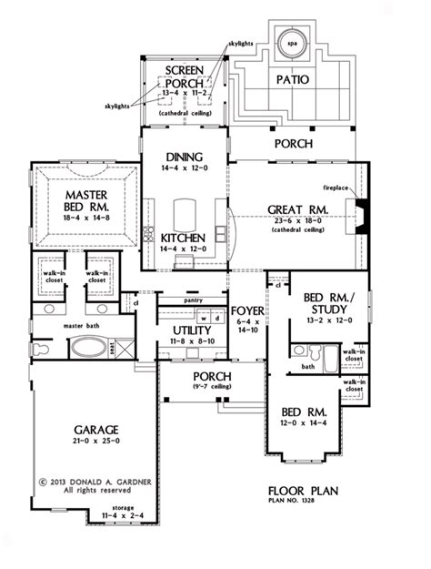 gardner floor plans plan of the week the bosworth 1328 houseplansblog