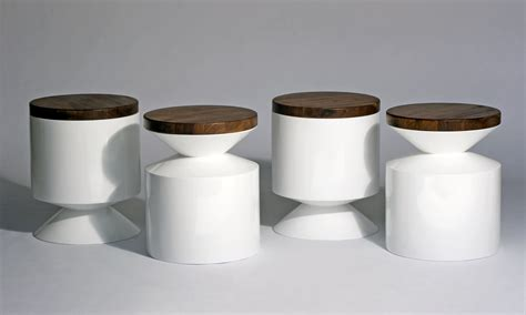 Stool End Table by Phase Design Reza Feiz Designer Griffin Stool Side