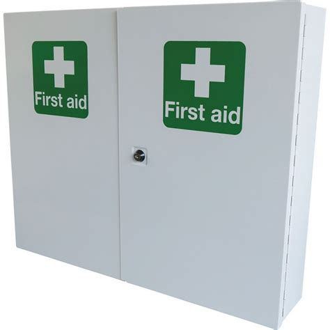 large first aid cabinet safety first aid double door single depth cabinet