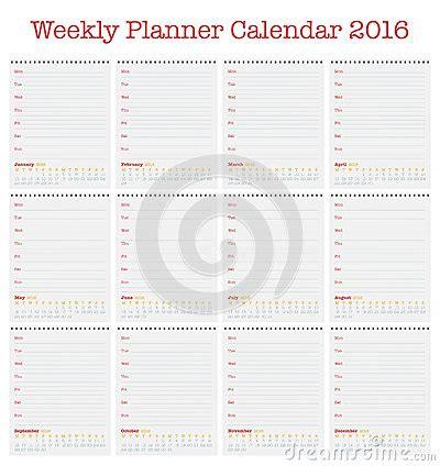 5 Year Calendar Starting 2016 Weekly Planner Calendar 2016 Starting With Mondays