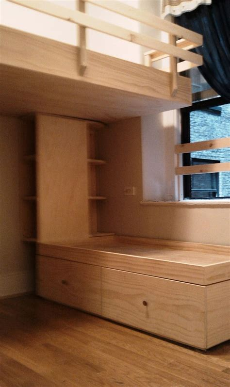 hand crafted js loft bed drawer stairs  captains bed