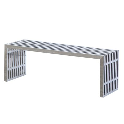 stainless benches zeta stainless steel bench long