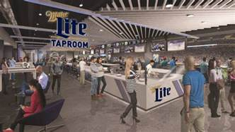 lions miller lite team up for ford field taproom