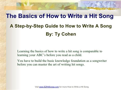 written by techniques and tips to make your everyday handwriting more beautiful books the basics of how to write a hit song