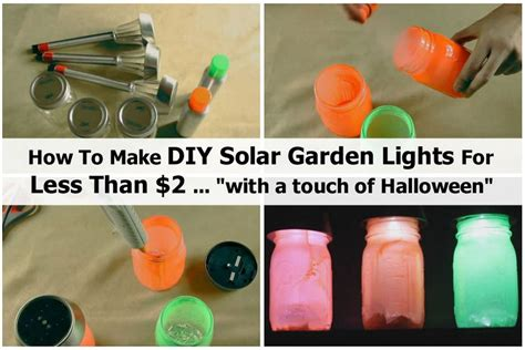 diy solar garden lights how to make diy solar garden lights for less than 2