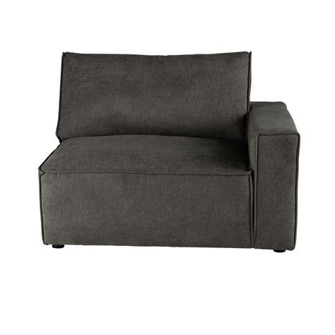 angolo divano angolo destro di divano grigio talpa in tessuto malo