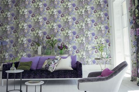 wallpaper design guild alexandria amethyst by designers guild purple green