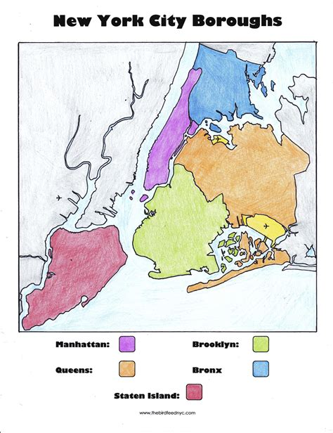 map of new york city boroughs new york city boroughs coloring activity for