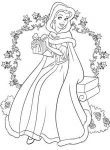 Christmas Disney Princess Coloring Page Disney Disney Princess Winter Coloring Pages Printable