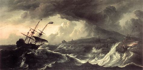 schip in storm ships running aground in a storm by backhuysen ludolf