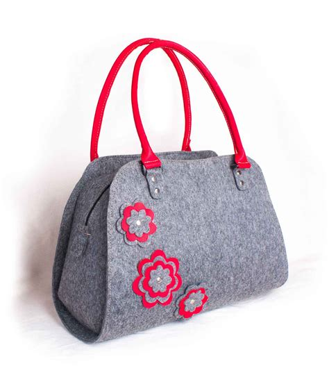 Felted Lambswool Blossom Handbag From Into by Felted Handbags Purse Shoulder Bag Purse Flower Bag