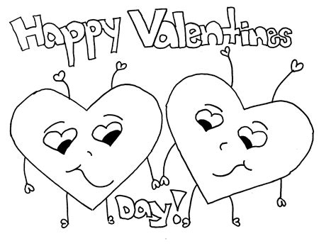 valentines day coloring pages education com free printable happy valentines day coloring pages for