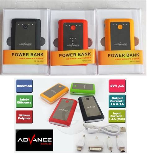Power Bank Advance S14a Jual Powerbank 8800 Mah Murah Jendela Dunia