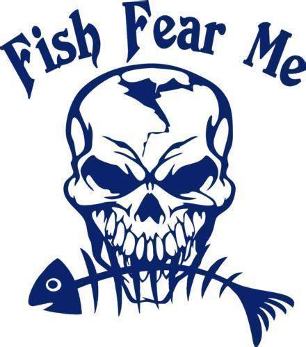 fish fear  fishing skull skeleton car boat truck window