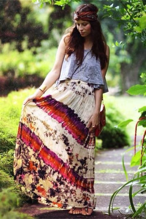 foto hippie figli dei fiori summer boho hippie style fashion color tie dye ombre fold